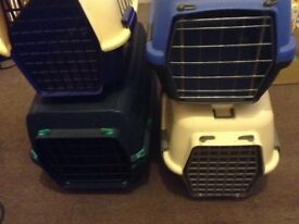 pet travel baskets x four