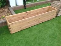 Pine trough planter (7 available)