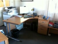 Office Desk and Pedestal in Good Condition - If you can remove it on 31/08/16, you can have it!