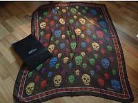 Alexander McQueen silk scull scarf
