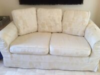 Large 2 Seater Cream Sofa, removable covers that have been recently washed. Very comfortable.