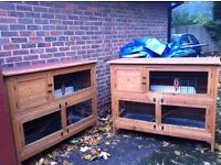 x2 wooden guinea pig/rabbit/ small animal cages/hutches - price for both