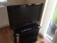"Panasonic Viera 26"" Television and stand"