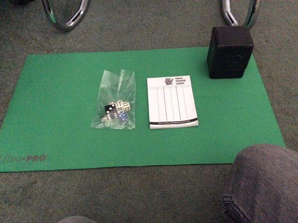 MTG Ultimate Guard Deck Box, Ultra Pro Playing Matt, Dice and Scoreing Paper bundle