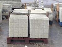 450x450x35mm ⭐️ new ⭐️ concrete Paving slabs / excellent quality / cobble design