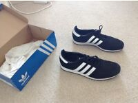Black and white adidas trainers! SIZE 9 Excellent condition!