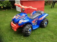 Car Quad Battery Powered Ride On Toddler Kids Toy Outdoor Indoor