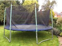 Atlantic 14ft Trampoline with safety net, cover and ladder