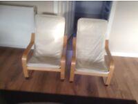2x kids IKEA chairs