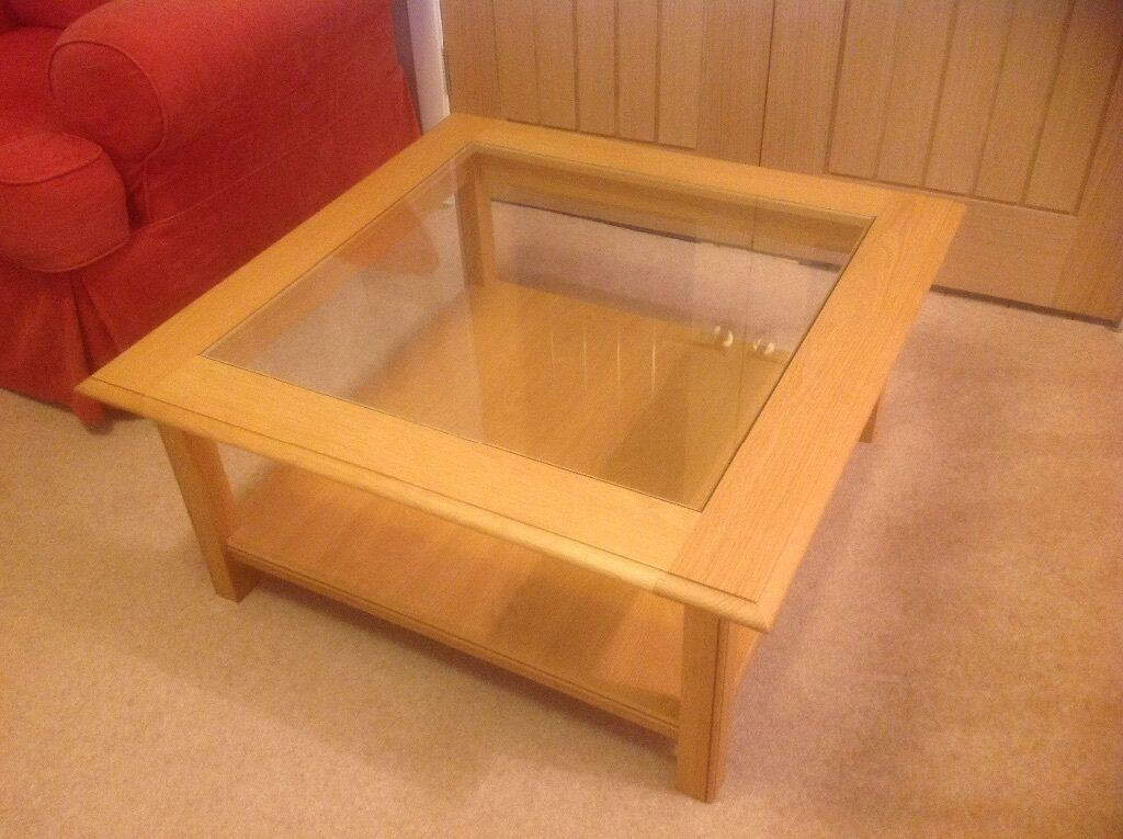 Marks Spencer Lichfield Light Oak Coffee Table With Glass Top Real Bargain