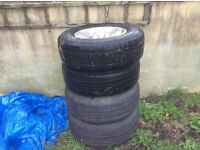 Landrover deep dish alloy wheels x4