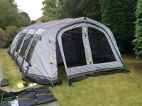 Outwell Corvette 7AC , 7 Berth Inflatable Family tent with footprint and carpet