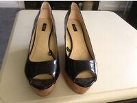 Patent cork shoes 6.5