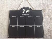 Week planner blackboard - meal planner