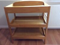 Solid wood baby changing unit