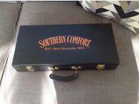 Rare Southern Comfort vintage Poker Case Unused perfect condition