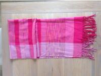 Pink summer scarf