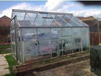 12x8 foot glass greenhouse
