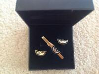 Tie pin and Cufflinks