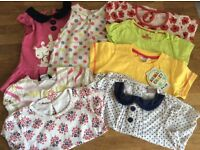 Bundle Of Baby Girl Short Sleeved Tops Size 12-18 Months