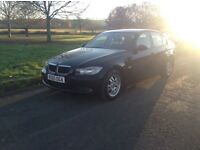 55 BMW 320i Es black new chape long mot services history air con n alloy £2295