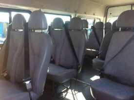 Campervan/minibus double and single seats including seatbelts