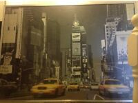 Extra large New York framed picture