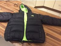 Large boys North Face reversible jacket