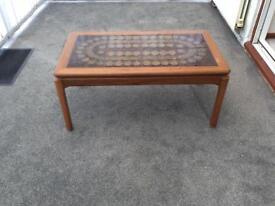Original Nathan 70s retro tiled coffee table