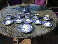 Assorted blue china Pottery