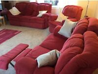 3 piece suite with recliners