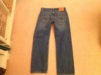 Levi 505 denim jeans. Boys age 12 .