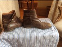 Men's leather boots Russell & Bromley , ankle boots brown, size 8, used