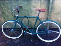 Vintage gents town & country bicycle with white wall tyres