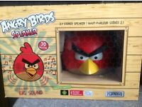 Angry birds speaker in red (boxed) excellent condition