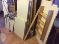 Ikea freestanding kitchen complete with sink, mixer tap, cooker and fridge