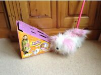 Push along puppy toy in pink and white, Excellent condition £5
