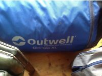 5 Man Tent OUTWELL GORGIA XL, NEEDS POLES (Lost) although can be bought online Excellent Con £50.