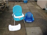 For sale kids feeding chair and bath