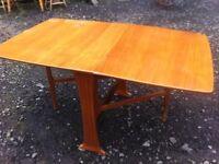 Teak veneer gate leg dining table