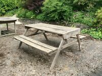 """Picnic"" style table/bench"