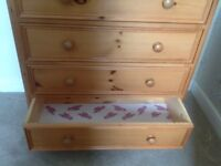 Solid wood pine drawers
