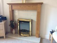 FIRE PLACE SURROUND AND FIRE