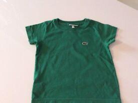 Lacoste t shirt age 2