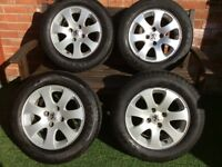 "4x15"" Alloy wheels and tyres suit Peugeot"