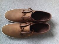 Next Mens Lace Up Shoes, 11/45, Light Tan, Brand New