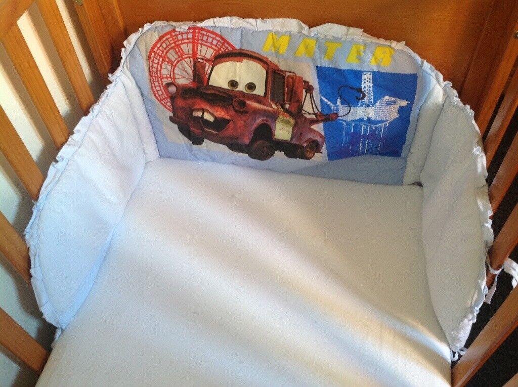 Disney Pixar Cars Mater Cot Bumper