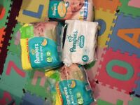Pampers dry nappies
