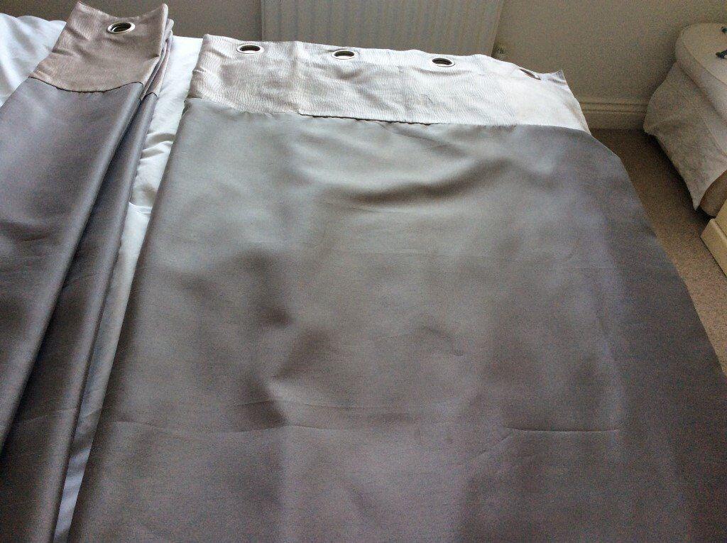 john lewis grey/silver eyelet curtains