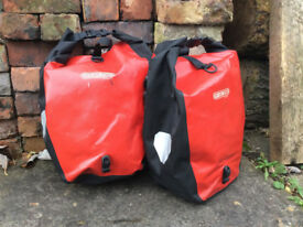 2 large 20L classic back roller ortlieb pannier bags
